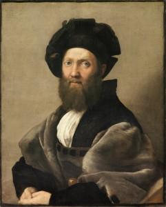 Portrait-de-Baldassare-Castiglione-par-Raphaël-grandeur-nature-82x67