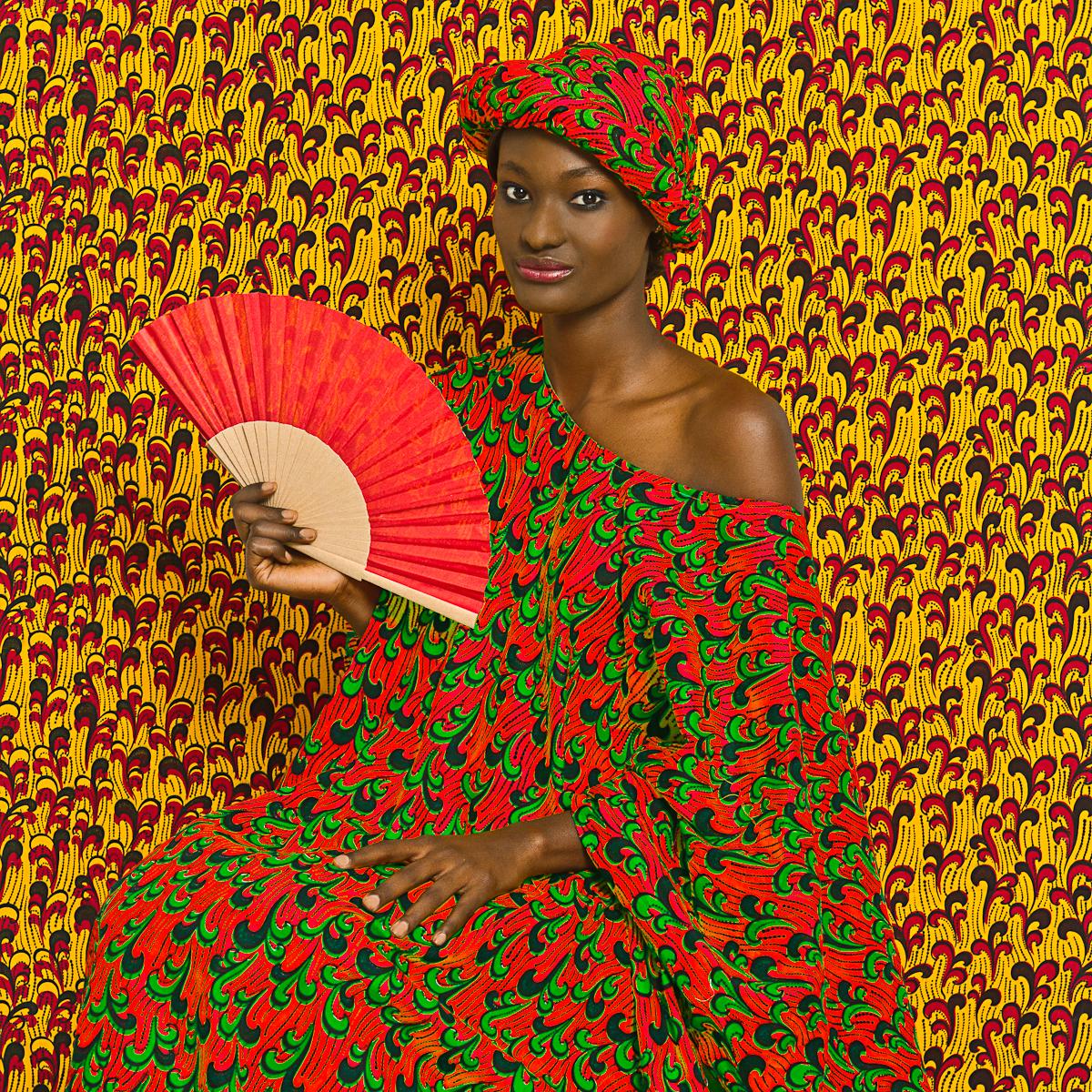 Omar Victor Diop, Aminata, série Le Studio des vanités, 2012